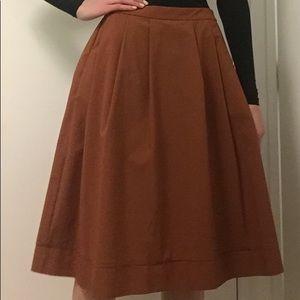Uniqlo Burnt orange skirt